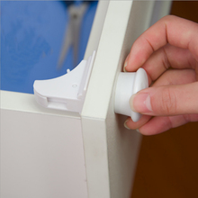 4pcs Magnetic Child Lock Baby Cabinet Safety Locks Kids Armario Drawer Locker Security Latches Cupboard Childproof Trava hot(China)