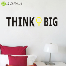 JJRUI Think Big Wall Quote Decal Sticker Vinyl Art Lettering Graphic Home Decor Mural 25.6x4.7in