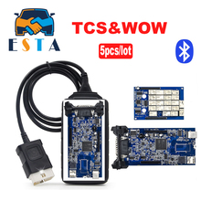 5PCS/Lot DHL free WOW tcs CDP bluetooth 5.008R2 software TCS pro for obd2 cars trucks diagnostic tool working better than tcs