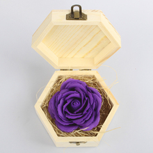Collectible Rose Flower Hot Sale Preserved Rose Flower Unique Gifts Soap Rose In Nice Gift Box for Birthday Gifts To Lover