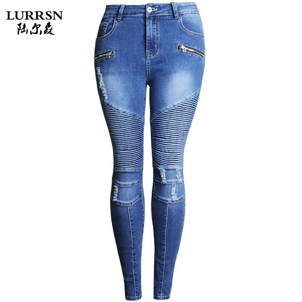 LURRSN Europe and America Big Size 3XL 2017 Spring New Women Jeans Slim Elastic Trousers Ladies Fashion Full Length Casual JeansОдежда и ак�е��уары<br><br><br>Aliexpress