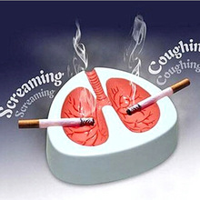 Novelty Quit Smoking Cigar Ashtrays Coughing and Screaming Lung Shape Stop Cigarett Ash Trays Free Shipping(China)
