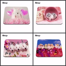 Hot Sale Personalized Funny Cute Pink Rabbit Style Durable Mouse Mat PC Computer Animal Mouse Pad Laptop Mats to Mouse