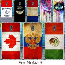 Akabeila Silicon Phone Case For Nokia 3 Cover Mexico France Russia Croatia UK United Kingdom Ukraine Flag Pattern