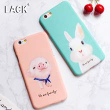 Buy LACK Lovely Cartoon Animal Dog Pig Rabbit Case iphone 7 Case iphone7 6S 6 Plus 5 5S Phone Cases Fashion Hard PC Cover for $1.77 in AliExpress store