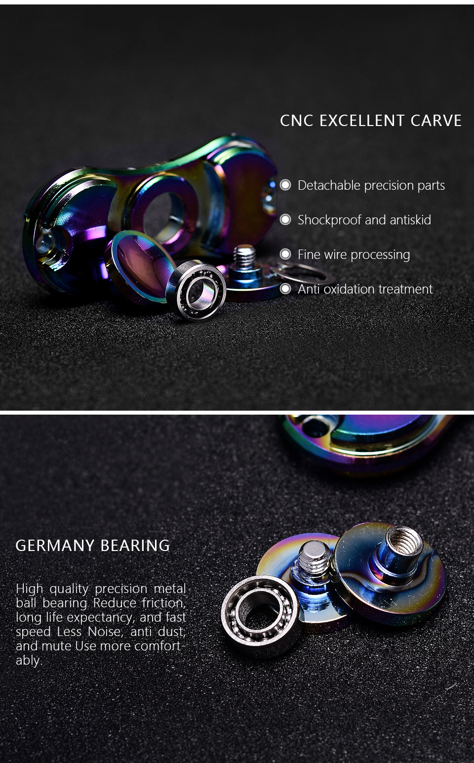 Alloy Fidget Spinner Rainbow Color Lasting Rotation Fine Craft Low Jam Tangan Swatch Original 100  Yes4007 Go Smokey Trendy Grey Noise High Speed Hand Xct04 Us997