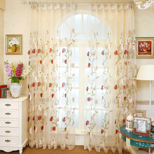 Balcony Garden High-grade Embroidery Curtain Transparent Window Curtain Products Tulle Yarn Sheer for Living Room Bedroom Blinds