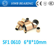 Buy 20Pcs SF1 SF-1 0610 Self Lubricating Composite Bearing Bushing Sleeve 6 x 8 x 10mm Free shipping High Quality