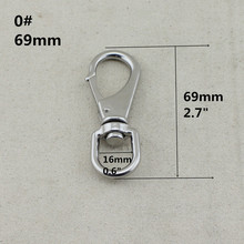 4mm,10pieces per lot,stainless steel swivel bolt snap hooks metal keychain hooks swivel hooks,rigging hardware(China)