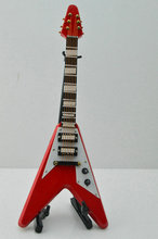 "Red Electric Guitar Model Action Figure 1/6 Scale Toy Collection For 12"" Doll"