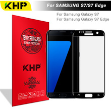 KHP 3D Full Cover Amazing Tempered Glass For Samsung Galaxy S7 Edge Tempered Glass Premium S7 Edge Screen Protector Glass Film(China)