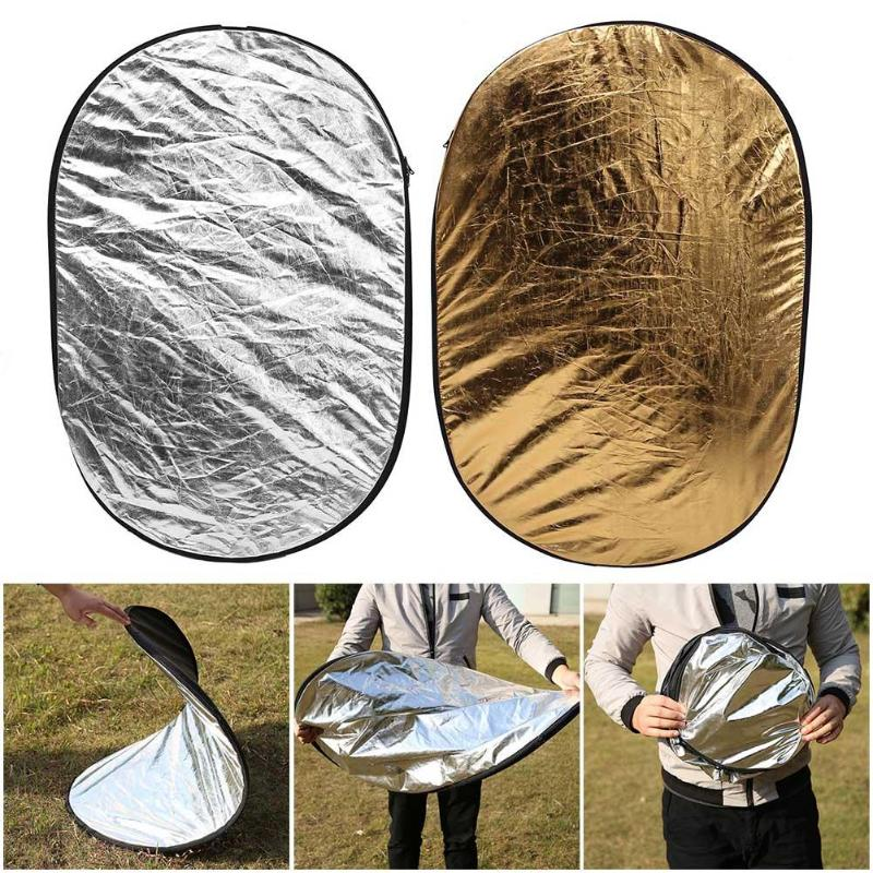 5 in 1 Oval Photography Light Reflector Foldable Photo Studio Supplies 9