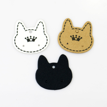 Hotsale 200pcs 3.7x3.5cm Paper Earrings Card Jewelry Ear Studs Display Cards Cat Head Shape Price Label Jewelry Tag