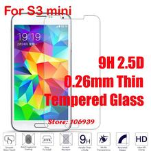 Best Cheap 9H Hard Hardness 2.5D 0.26mm Phone Accessories Mobile Glass Screen Protector For Samsung Galaxy S3 mini GT-I8190