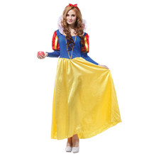 New Snow White Princess Dress Cosplay Costume Christmas Halloween Party For Adult Women And Girl Gifts Shanghai Story