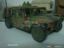 JEEP military Hummer vehicle Racing 3D paper model DIY