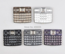 10pcs White/Black/Gold/Grey/Purple New Housing Main Function Keyboards Keypads Buttons Cover For Nokia E72 , Free Shipping