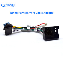 FUNROVER Car ISO Radio Plug For Volkswagen Golf Passat Skoda Seat Lead Loom Wiring Harness Wire Cable Adapter ISO to ISO cable(China)