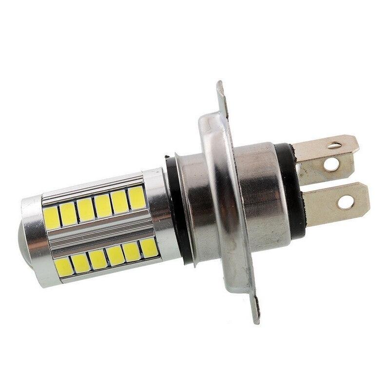 JX-LCLYL 1pc H4 5630 33LED 12V High Brightness Car Fog Light Headlight Bulb White