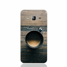 23675 Coffee Cup On Wooden Table cell phone case cover for Samsung Galaxy J1 ACE J5 2016 J7 N9150