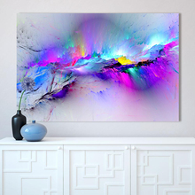 CHENFART Wall Art Canvas Painting Abstract Unreal Pink Cloud Landscape Pictures For Living Room Home Decor No Frame(China)