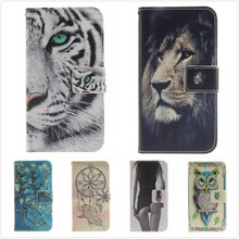 For Apple iPhone 7 Leather Phone Cases for iPhone7 Coque Luxury Sexy Girl Tiger Flip Stand Wallet Case Soft Silicon Back Cover