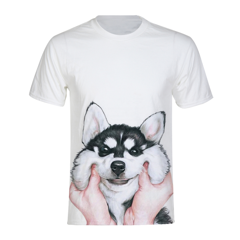 Hip pop Funny T-shirt Pinching Erha dog face Men 3d tshirt Short Sleeve Summer Tops Elephant animal print Tees male clothes 2018