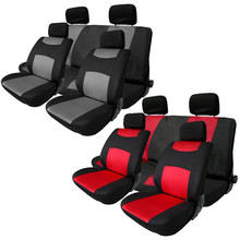 Confortable 10Pcs red or gray Car Seat Cover  Fit Most Cars Covers Set Headrest Cover Protector Car Seat  Auto Accessories
