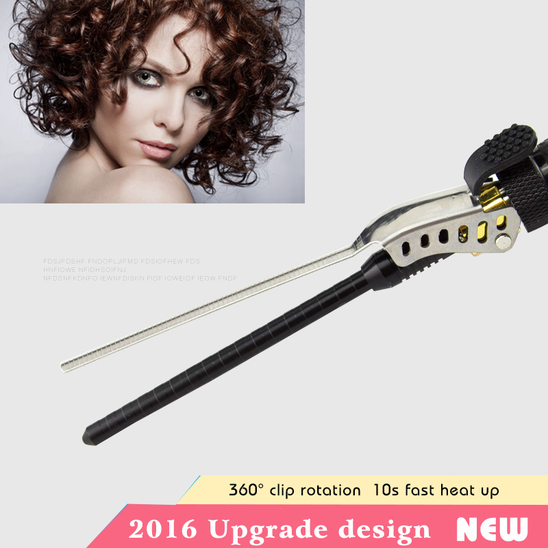 9-15mm Deep Curly Hair Styler Curls Ceramic Curling Iron Fashion Wand Curler Pear Hair Curlers Rollers Good Items Curling Wand <br>
