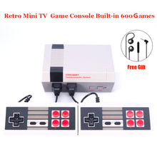 New Retro Childhood Mini TV Handheld Video Game Console Upgrated For Nes Games Built-in 600 Different Game PAL+NTSC dual gamepad