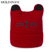MOLIXINYU Baby Hat Boy Cap For Children Hat Autumn Baby Warm Winter Girl Knitted Hat For Kid Skullies Beanies Girls/Boys Cap(China)
