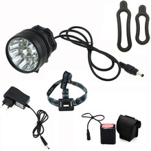 2 in 1 20000LM 11 x Cree XM-L T6 LED Rechargeable Bicycle Light Cycling Bike Headlight Headlamp + 18650 Battery Pack + Charger(China)