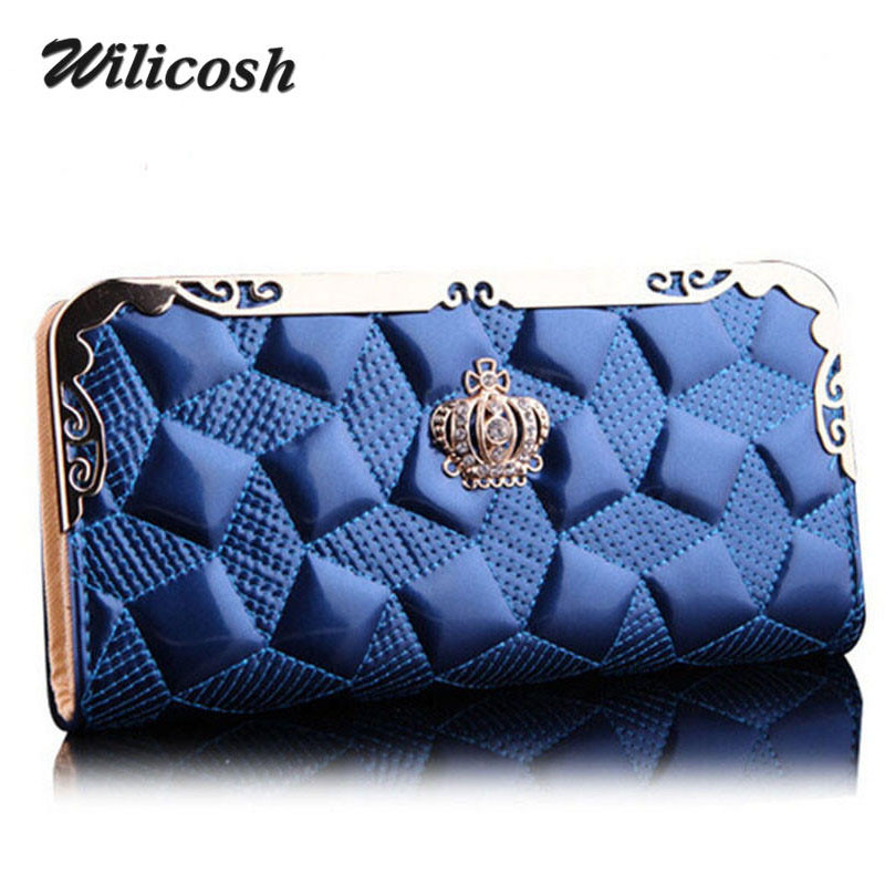 2016 New Arrival Pu Leather Fashion Women Wallets Bag Purse Women clutches Crown Day Clutch High Quality Purse For Women DB5586<br><br>Aliexpress