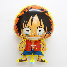 Anime One Piece Luffy Balloon Globos Decoration For Globos Party Balloon Baloes Kids Toys Inflatable Helium Balloon brinquedos(China)