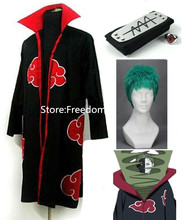 Free shipping Naruto Akatsuki Zetsu Cosplay Costume full set