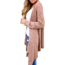 Stylish Outwear Long Sleeve Waterfall Asymmetric Hem Open Front Coat Leisure Casual Ladies Elegant Party Solid Simple Cardigan(China)
