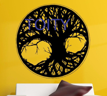 Tree Of Life  Wall Sticker Indian Zen Yoga Decor Vinyl Decal Room Art Creative Mural H57cm x W57cm