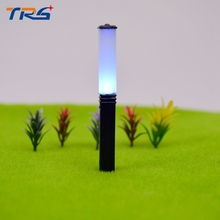 20PCS Model Garden Square Lamps Model Blinking Light Post Scale 1/100 Model Layout Single Head Garden Lamp Post