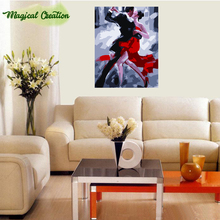 DIY digital oil painting hand painted picture by numbers abstract tango lover christmas home decoration 40*50 number paintings(China)