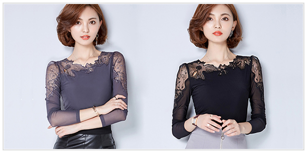 HTB1AKQGSpXXXXXOaXXXq6xXFXXXt - Fashion Woman Lace Shirt Hollow Out Casual Short Sleeve