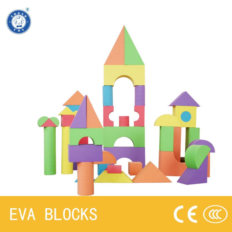 ZBOND 56Pcs 5cm Thickness EVA Foam Building Blocks Creative Safe Soft Bright Color Children Gifts Baby Early Educational Toy<br>