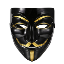 Awesome V For Vendetta Mask Guy Fawkes Anonymous Halloween Fancy Dress Costume Cosplay Venetian Carnival Mask Anonymous Mask(China)