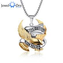 Unique Birthday Gift Trendy Stainless Steel Eagle Punk Pendant Cool Men Pendant & Necklace Party Accessories (JewelOra PE101355)
