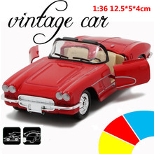 Convertible Classic Car 1:36 scale alloy pull back model car, Retro Diecast cars toy,Children's gift,free shipping(China)
