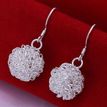 Wholesale silver plated Earring,925 Jewelry silver earring,Tennis Ball Earrings SMTE076