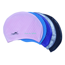 whole sale 100PCS solid massage function rubber water-proof Adult swimming cap DL-21(China)