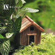 Micro fairy garden figurines kawaii wood board house miniatures/terrarium doll house decor/succulents DIY ornaments accessories(China)