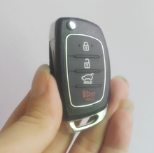 Remote Key Shell for Hyundai 4 buttons SANTA FE ix35 i30 Folding Flip Key Blank Auto Replacement Parts Car Key With Logo(China)