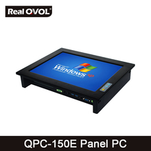 QPC-150E Panel touch PC industrial computer fanless Intel Core I3-3110M CPU, 32GB SSD with VGA HDMI port & 5 Serial Port,2 LAN(China)