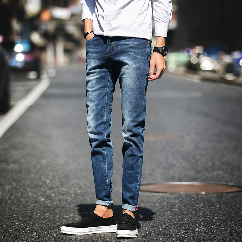 New 2017 famous brand men jeans male fashion Korean style casual Slim pencil pants jeans men trousers jeans for menОдежда и ак�е��уары<br><br><br>Aliexpress